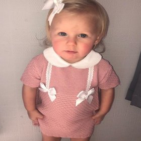 Sets-Suits-Spanish-Clothing-Baby-Girl-Skirt-Ribbon-Bow-White-Pink-Floral